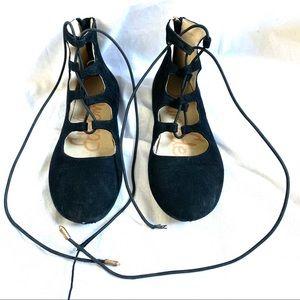 Sam Edelman Felicia Stella black lace up flats 1